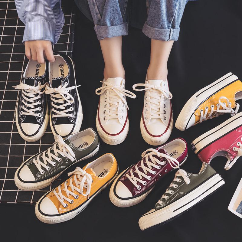 黑色帆布女鞋学生韩版百搭ulzzang秋季2020新款布鞋爆款小白板鞋