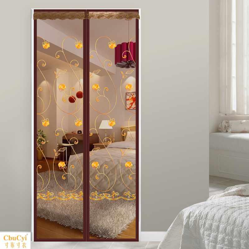 静音加密魔术贴门帘高档夏季家用卧室客厅防蚊磁性软纱门纱窗加厚