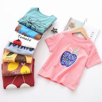 女童短袖T恤儿童夏装男2020新款宝宝纯棉打底衫中小童洋气半袖潮