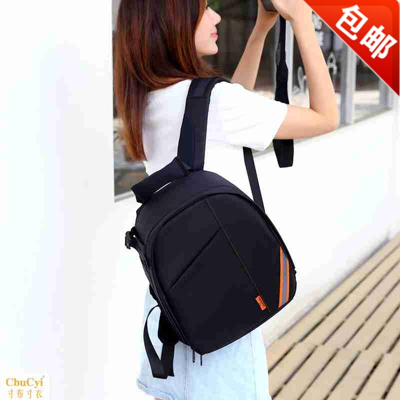 New camera bag simple men and women small double shoulder photography bag professional SLR Camera Bag Backpack Light and waterproof