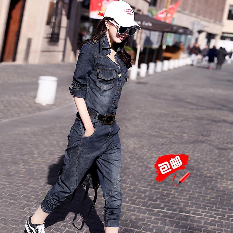 女式牛仔新款套装大码两件套休闲2018年春季推荐新品正品包邮爆款