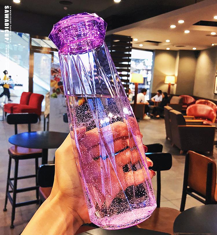 夏季创意潮流学生水杯子塑料便携防漏少女心韩国清新可爱韩版水瓶
