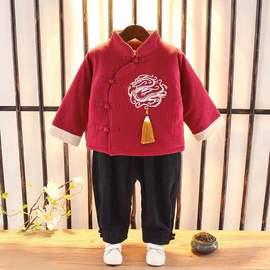 儿童冬装套装中国风童装女童汉服棉衣婴儿拜年服宝宝男周岁礼服