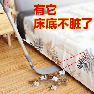 套布可伸缩加长笤帚汽车内饰家用床底缝隙清洁神器擦地板