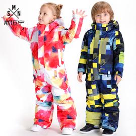 儿童滑雪服保暖防水连体衣裤套装防风雪乡装备男童女童宝宝防雪服图片