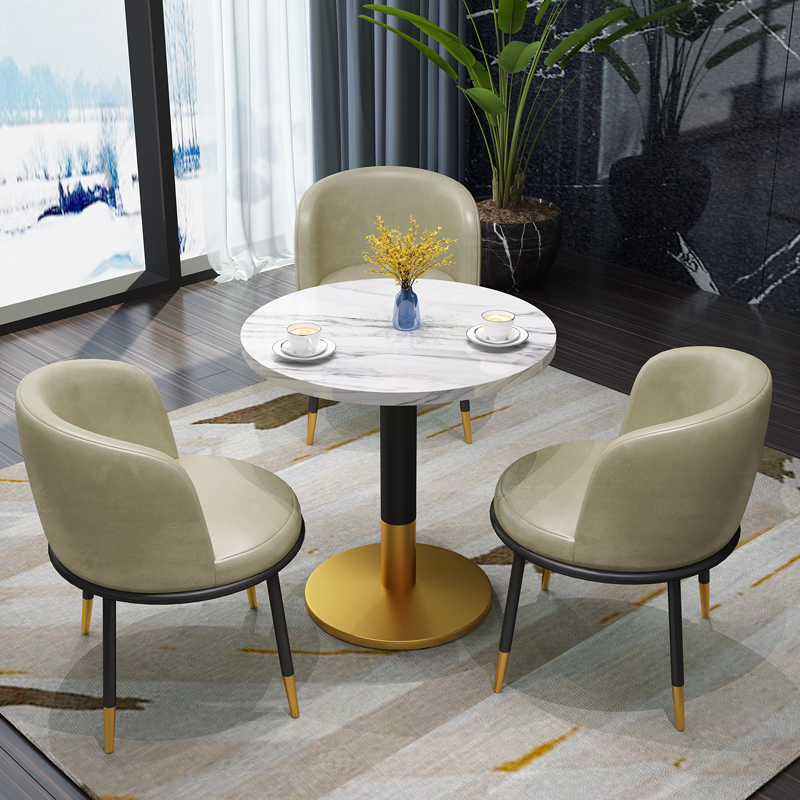 Light luxury beauty salon rest reception negotiation table chair combination negotiation leisure reception balcony small round table for business