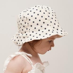 韩国进口婴儿帽子秋冬婴幼儿纯棉遮阳帽新生儿童渔夫帽男女宝宝帽