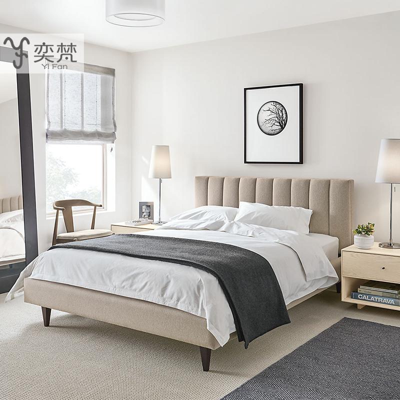Нордический ткань кровать брак кровать простой современный хранение мягкий чехол съемный двуспальная кровать небольшой квартира ткань кровать 1.8 метр