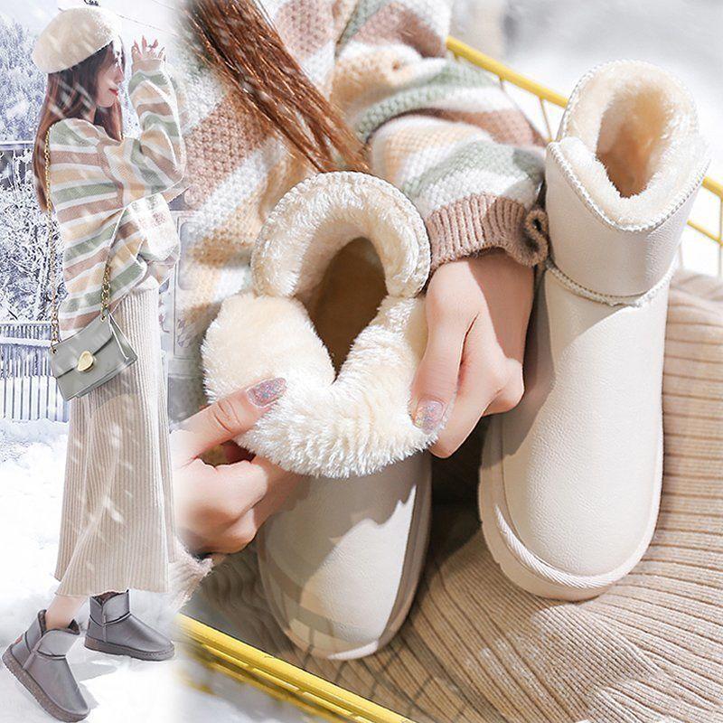 东北2020冬季新款加绒防滑雪地靴