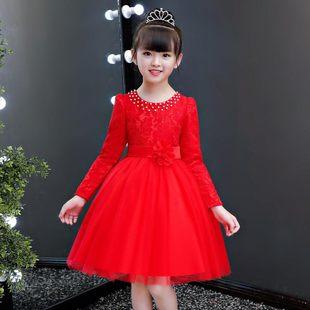 女童连衣裙春秋2020新款小女孩洋气长袖儿童公主裙蓬蓬纱裙子夏季