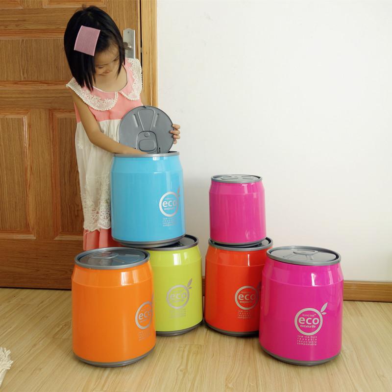 大号按压式可乐易拉罐垃圾桶纸篓客厅厨房垃圾桶垃圾筒创意塑料