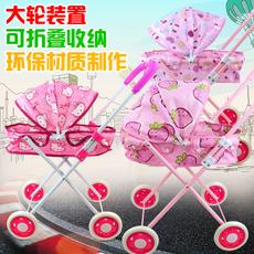 儿童手推车过家家女孩玩具婴儿女童购物小推车带娃娃3-4-5岁宝宝