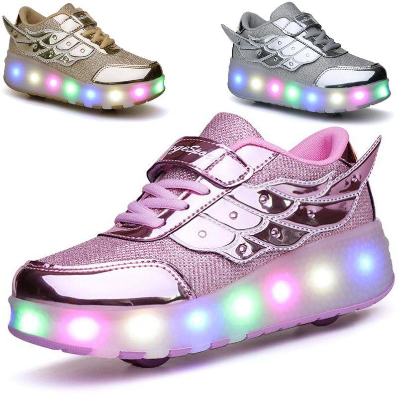 暴走鞋双轮滑轮鞋儿童鞋子学生轮滑鞋女童男童运动鞋旱冰鞋溜冰鞋