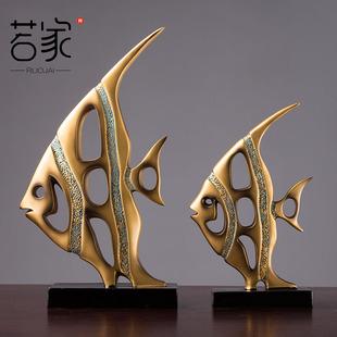 鱼摆件创意欧式家居装饰品客厅酒柜电视柜家装摆设新婚礼物艺术品价格