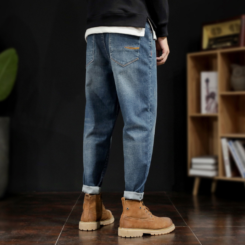 Xuanyao Nike Taichao fat retro jeans mens autumn and winter fattening oversize loose straight pants fat guy