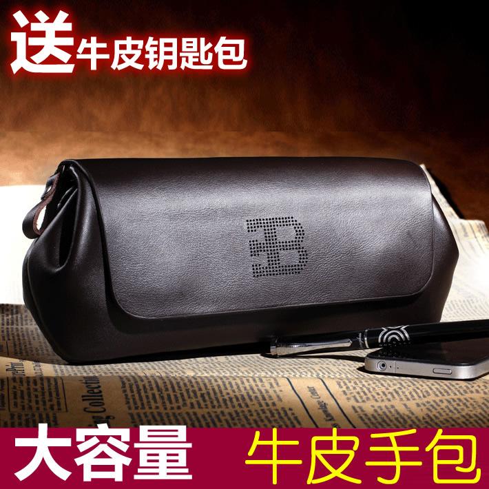 韩版新款男式手包真皮男包商务手拿包夹包手抓包牛皮男士包大容量