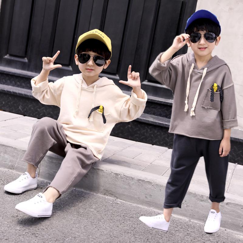童装男童秋装套装2019新款洋气卫衣春秋款胖大童韩版两件套儿童潮