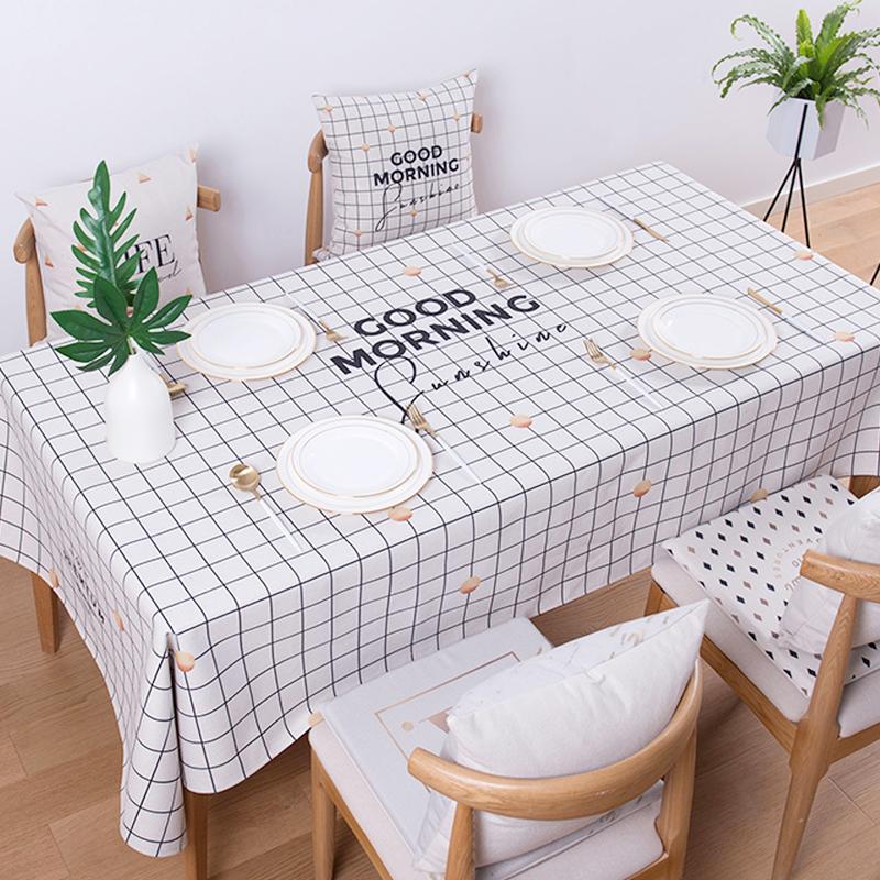 ins网红桌布北欧风棉麻桌布茶几布艺餐桌长方形简约桌垫防水桌布