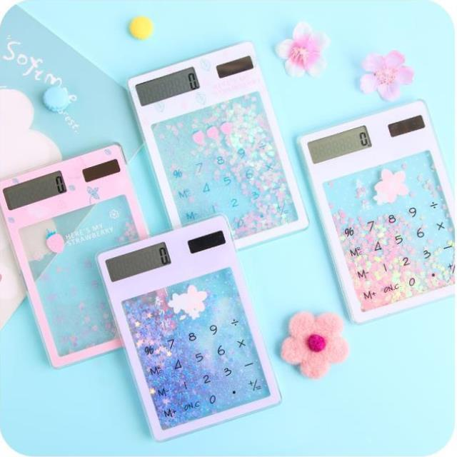 Office creative computer net red gift cherry blossom pattern portable student girl practical durable same style personality