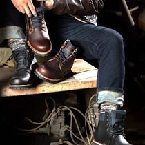 冬季雪地靴男士加绒保暖棉鞋加厚防滑短靴东北棉靴防水马丁男靴子