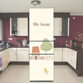 冰箱贴创意可爱贴纸厨房装饰贴画定制卡通翻新自粘不透明防水贴膜图片