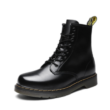 Martin boots, men's high top, British style, Korean style, all-around fashion shoes, middle top, snow boots, men's boots, winter cotton shoes, men's shoes