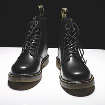 马丁靴男高帮英伦风韩版工装靴潮鞋真皮靴中帮男鞋冬季加绒雪地靴