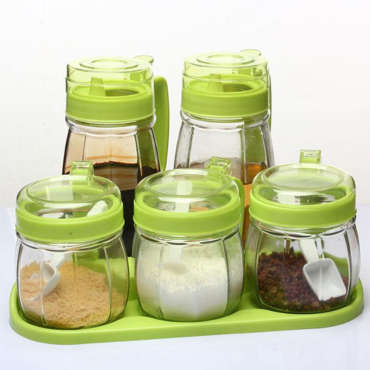 厨房玻璃调料盒油壶盐罐调味罐佐料瓶调味罐套装调味收纳小帮手(用6.12元券)