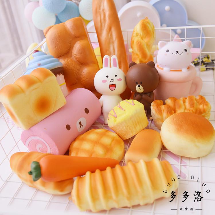 Моделирование игрушка может часть женского имени кролик бурый медведь хлеб чашка кот торт squishy медленный отскок решение пресс фон украшение