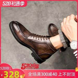 马丁靴高帮英伦风冬季加绒韩版棉鞋