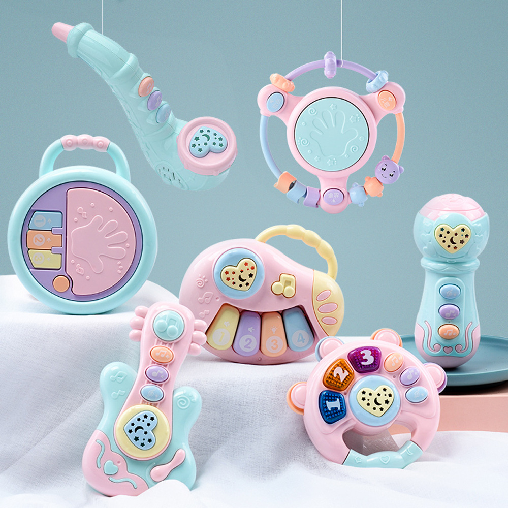 Zhenyuan baby music hand clapping gongs and drums multifunctional projection clapping drums 3-year-old early education ringing baby toys