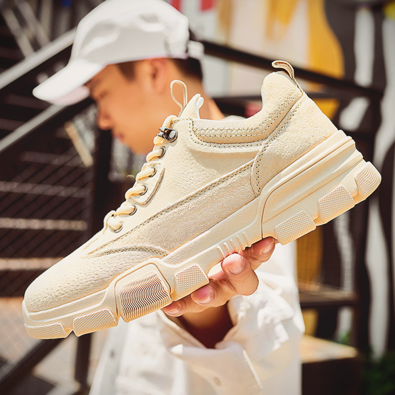 Mens shoes trendy shoes 2020 new spring casual sports shoes versatile heavy bottom work clothes Martin boots trendy dad shoes