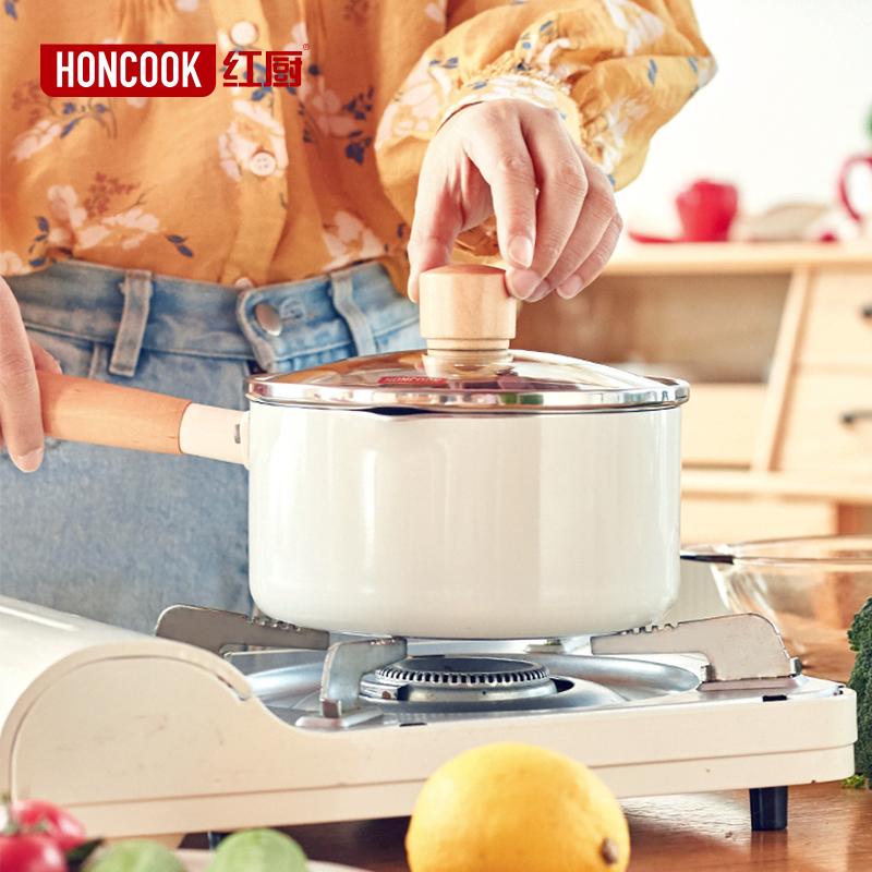 小奶锅家用不粘锅麦饭石泡面热奶宝宝锅婴儿煎煮一体锅儿童辅食锅图片