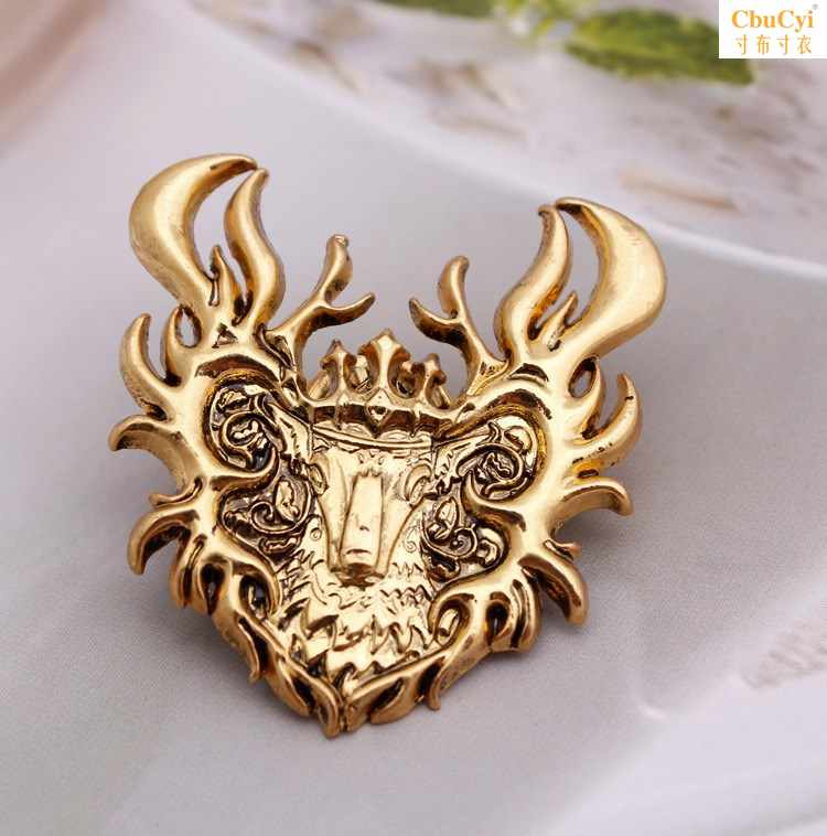 Right to swim around the song of ice and fire power game bucks family emblem fashion personality deer BROOCH BADGE