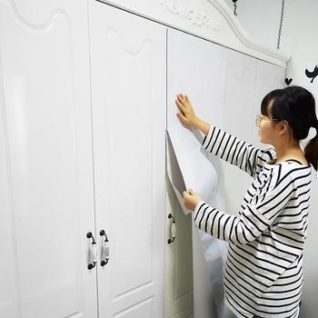 白色柜子厨柜贴纸衣柜门防水贴纸