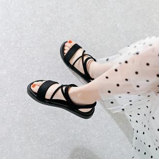 2021夏季 防滑舒适平底凉鞋 新款 百搭学生简约软底罗马鞋 女仙女 韩版