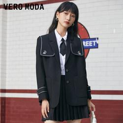 Vero Moda2021秋冬新款复古日系学院风西装外套女 321308073
