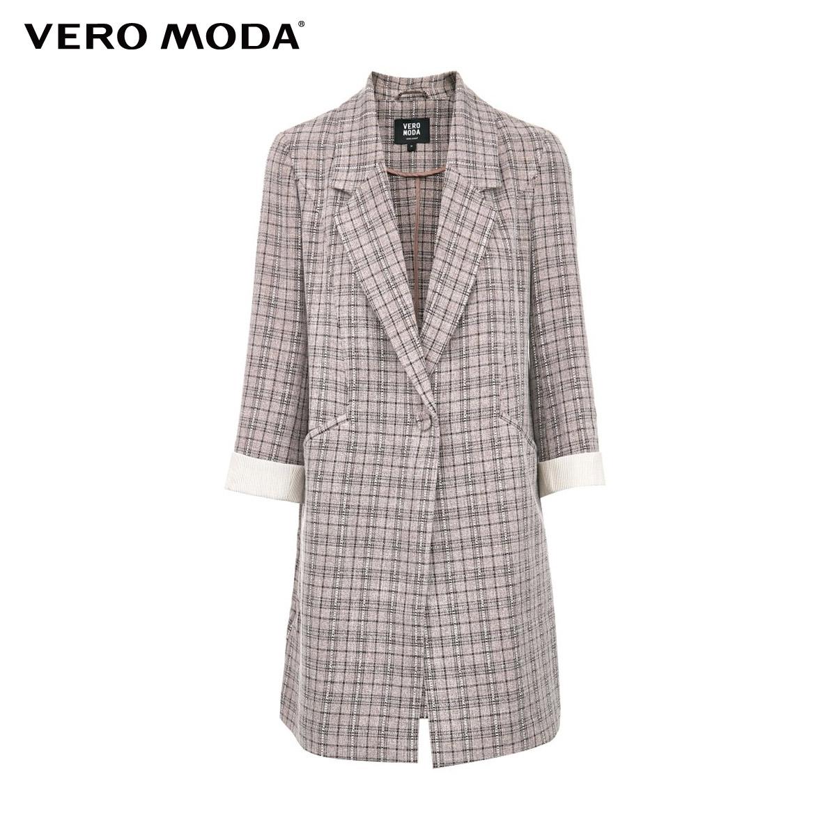 vero moda2021春夏新款格纹七分袖质量可靠吗
