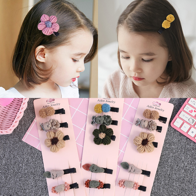 韩国儿童发饰品小女孩套装刘海夹热销55件正品保证