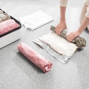 免抽气手卷真空压缩袋行李箱专用衣物旅行收纳羽绒服整理衣服神器