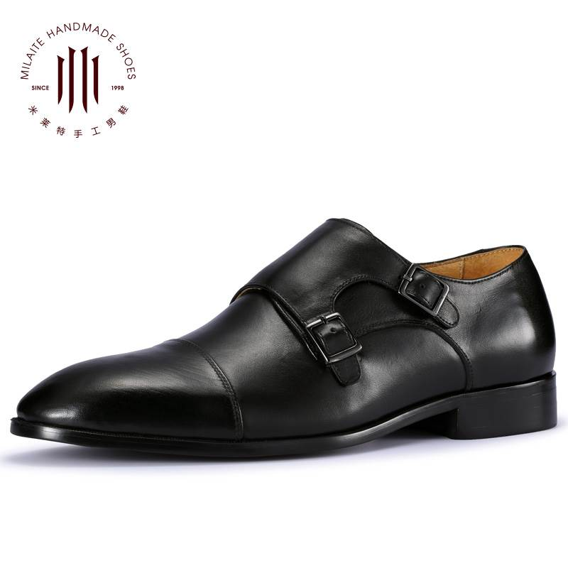 British shoes mens business dress European version buckle monk Munk mens shoes youth foot pedal small