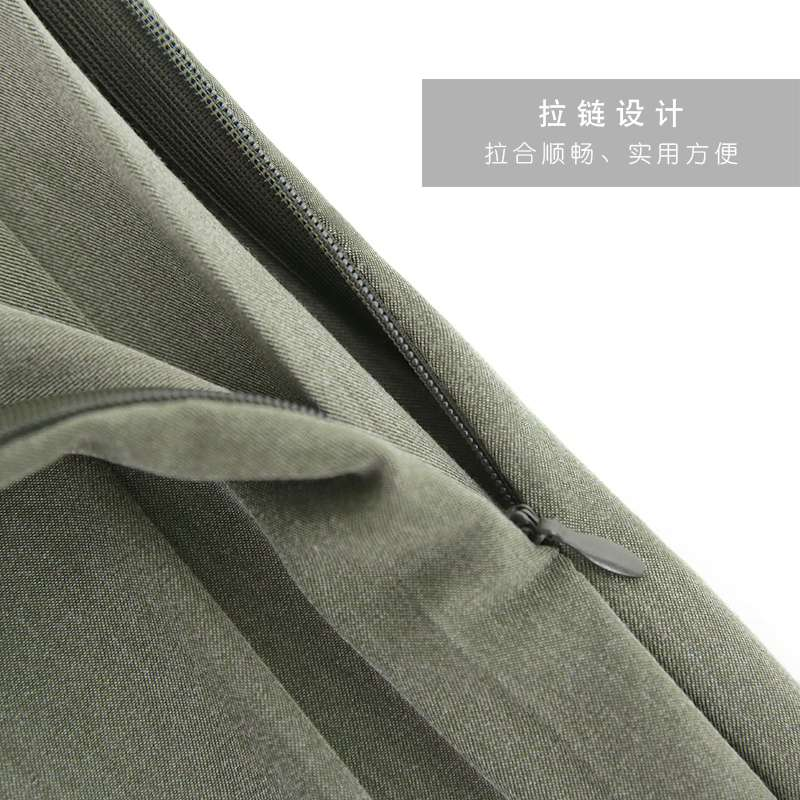 Mid length Chinese style long skirt black suit material college style grey pleated skirt female spring and Autumn