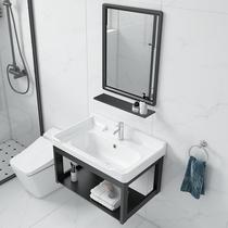 洗脸盆柜组合卫生间洗漱台池简易小户型家用挂墙式洗手盆阳台面盆