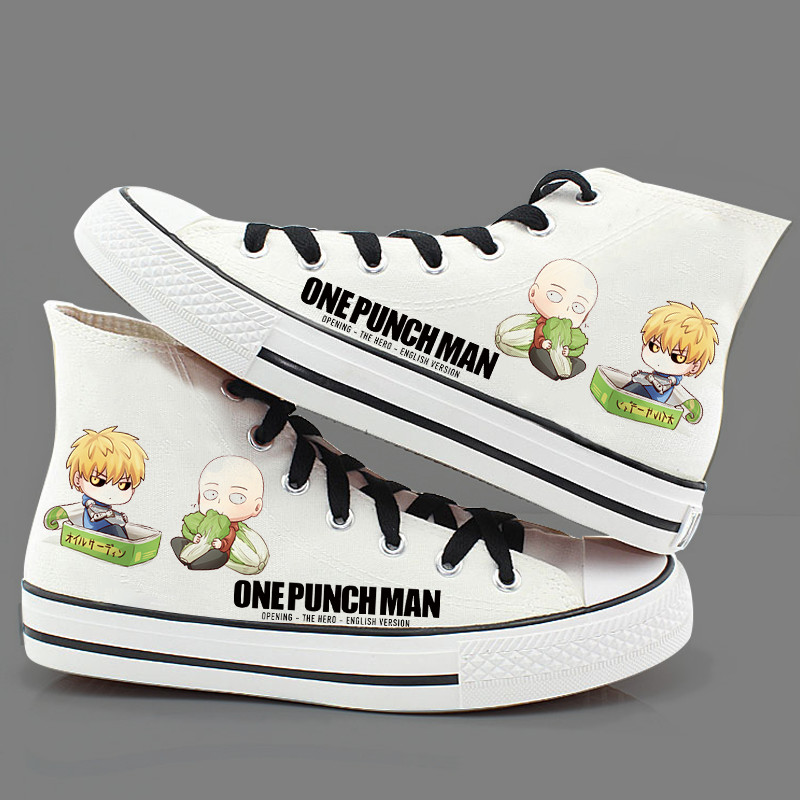 Fan Cosplay animation peripheral shoes men and women graffiti cartoon single shoe cloth high help one punch Superman Saitama another
