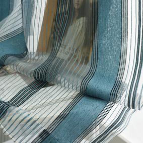 定制雪尼尔竖条纹客厅卧室阳台纱帘