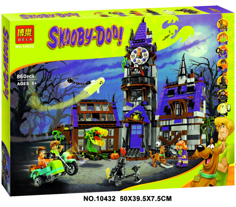 Scoobys mysterious house mysterious castle 10432 lighthouse assembly building block toys