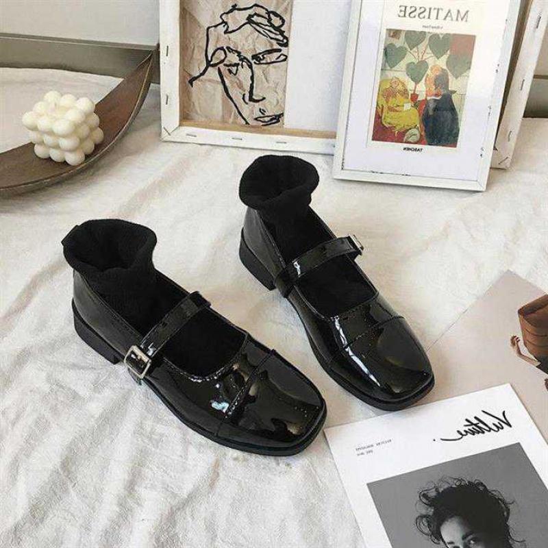 玛丽珍鞋女学生jk制服复古一字扣粗跟单鞋日系lolita洛丽塔小皮鞋