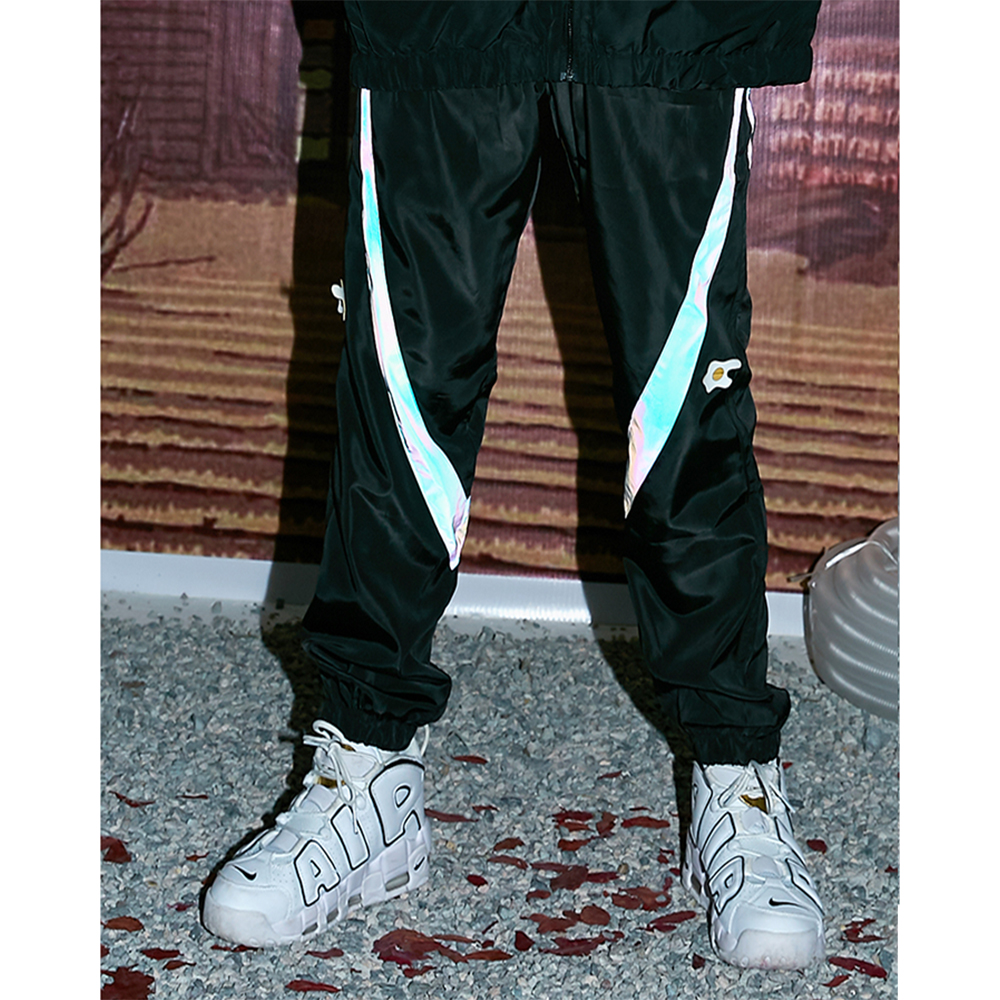 Forked tongue national fashionable pants mens trendy loose fitting overalls