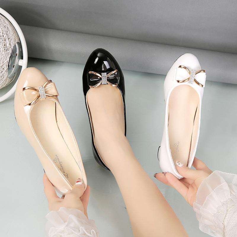 高跟水钻2021春季新款浅口小皮鞋质量靠谱吗
