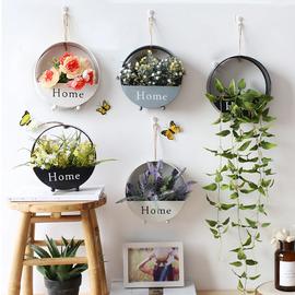创意室内墙面装饰花艺套餐客厅房间墙上仿真花壁饰卧室墙壁挂件